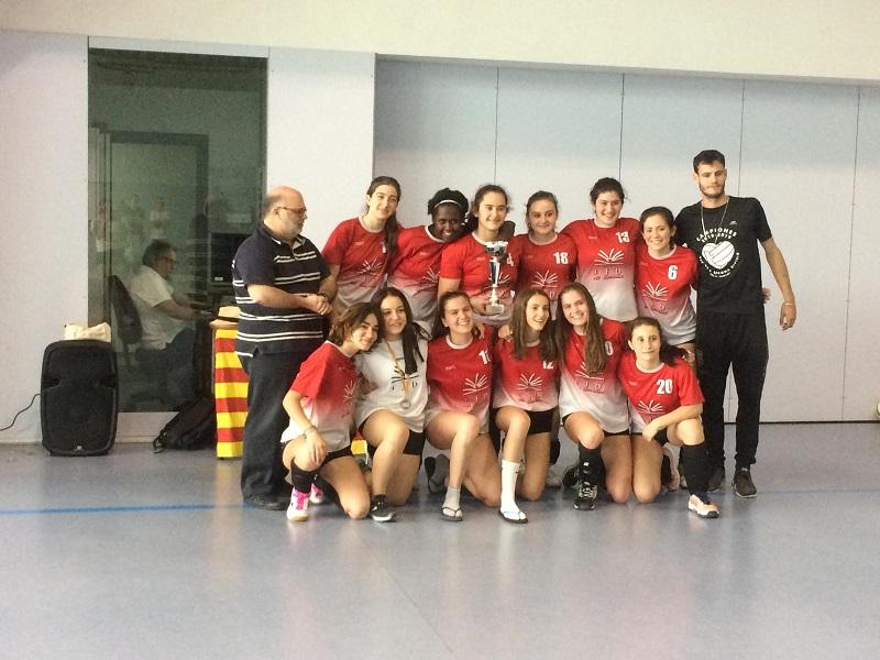 L'Institut Jaume Balmes Campió de Catalunya de Tercera Divisió cadet femenina
